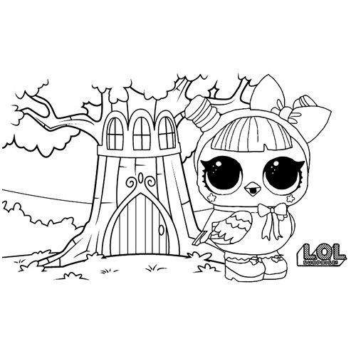 LOL surprise winter disco hootie cutie coloring book