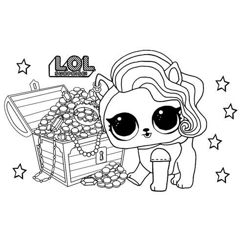 LOL surprise winter disco furry treasure coloring book