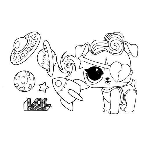 LOL surprise winter disco doggie stardust coloring book