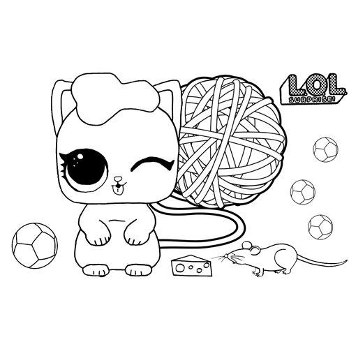 LOL surprise winter disco the kitten coloring book