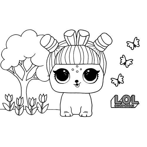LOL surprise winter disco bun e.d.m coloring book