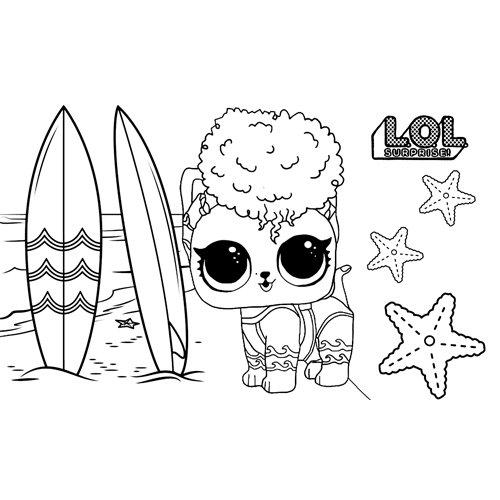 LOL surprise winter disco rawr tide coloring book