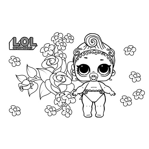 lol baby lil pink baby coloring book