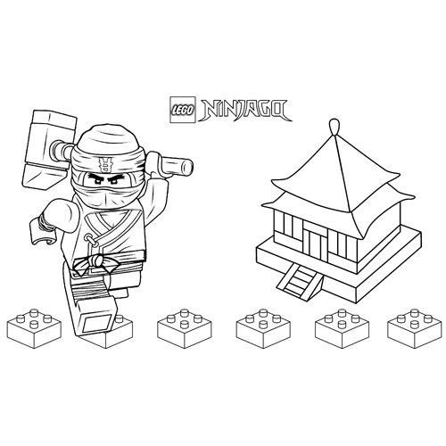 cole lego ninjago coloring book