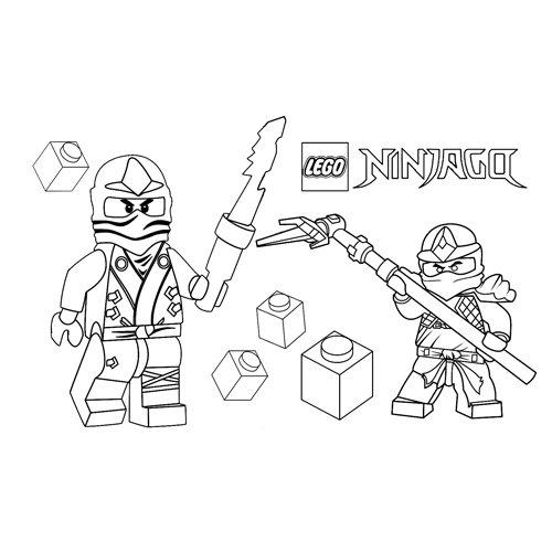 cole and jay lego ninjago coloring book