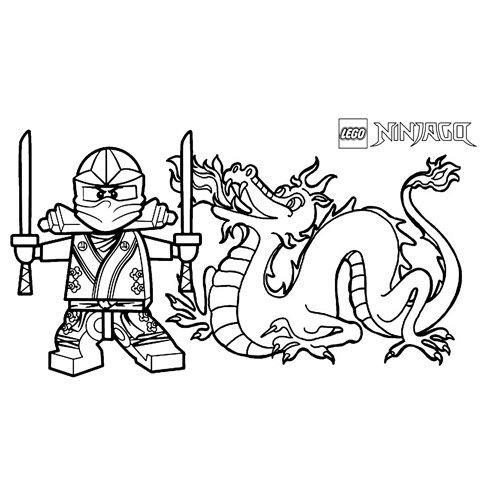 kai and the dragon lego ninjago coloring book