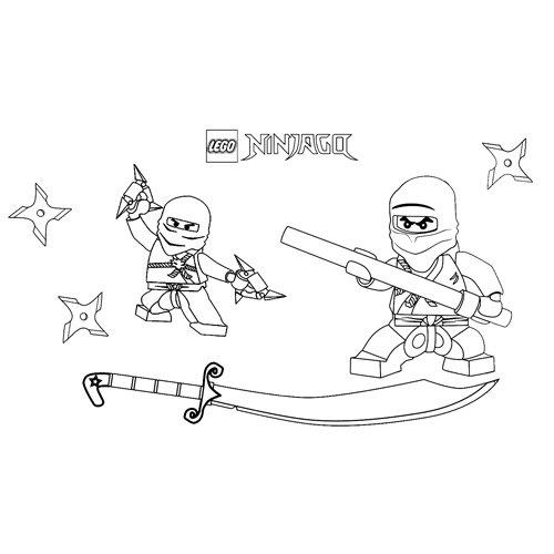 lego ninjago zane and jay coloring book