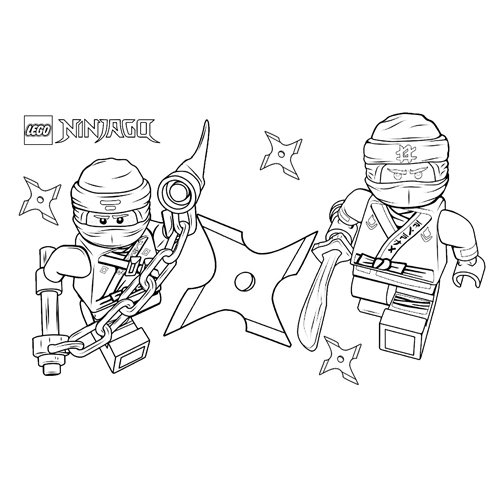 zane and jay coloring book