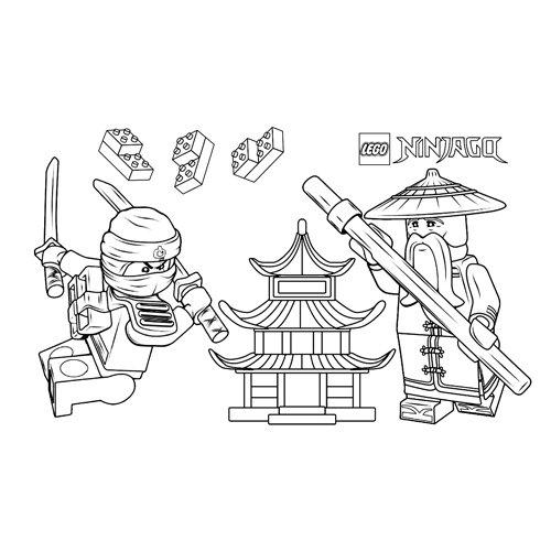 sensei wu and floyd lego ninjago coloreing book