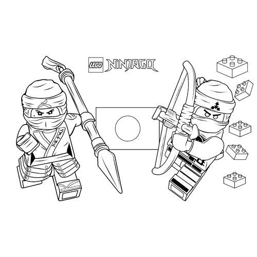 zane and cole lego ninjago coloring book