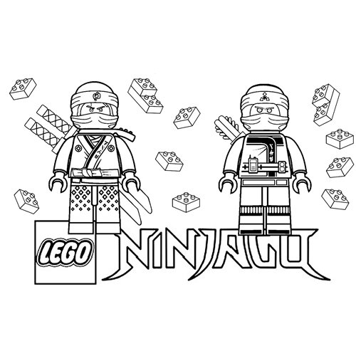 zane and floyd lego ninjago coloring book