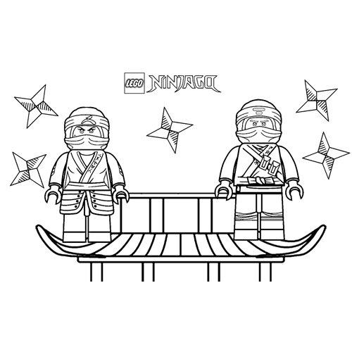 kai and cole lego ninjago coloring book