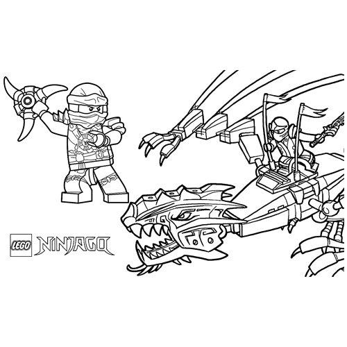 kai and floyd lego ninjago coloring book