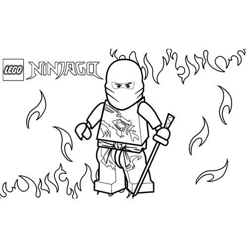 kai the red ninja lejo ninjago coloring book