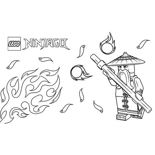 sensei wu the teacher lego ninjago coloring book