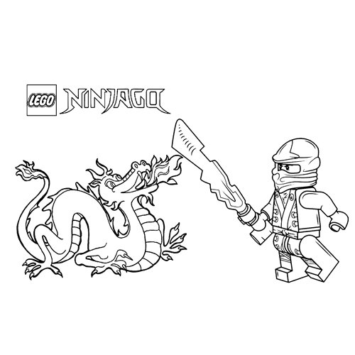 the dragon and kai the red ninja coloring book