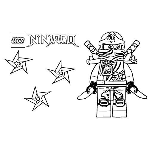 kai lego ninjago coloring book