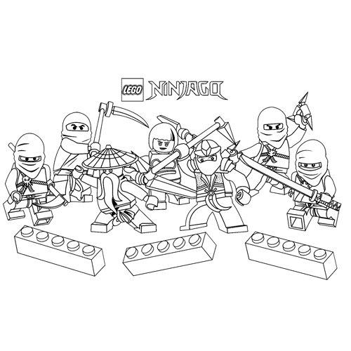fun lego ninjago coloring book