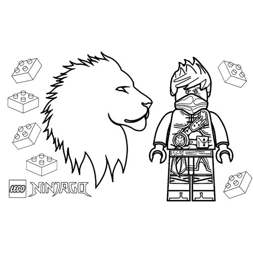 strong kai lego ninjago coloring book