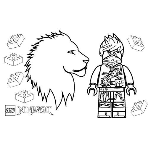 strong kai lego ninjago coloring book