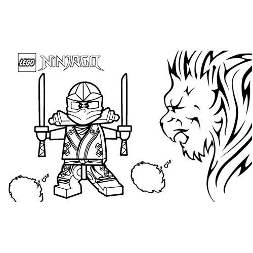 strong cole lego ninjago coloring book