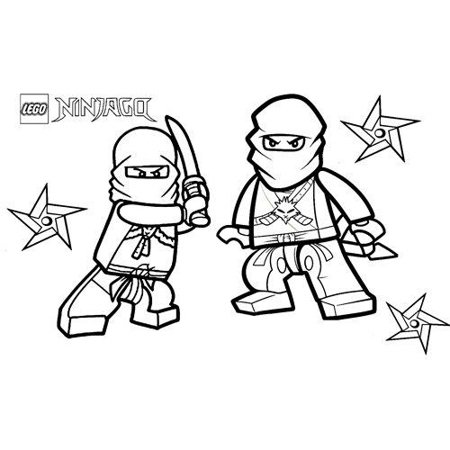 fighter lego ninjago coloring book