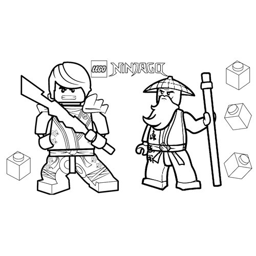 sensei wu and floyd lego ninjago coloring book