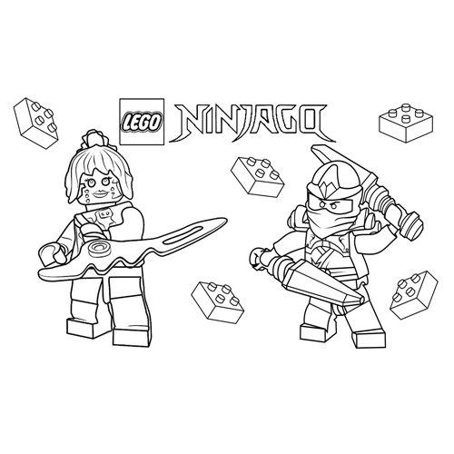 zane and pixal lego ninjago love coloring book
