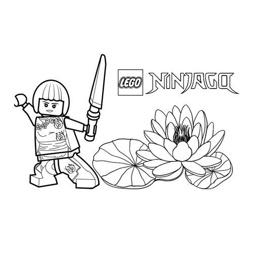 strong nya lego ninjago coloring book