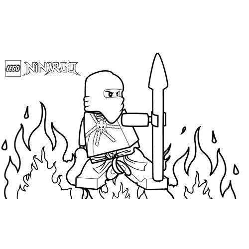 fire ninja lego ninjago coloing book