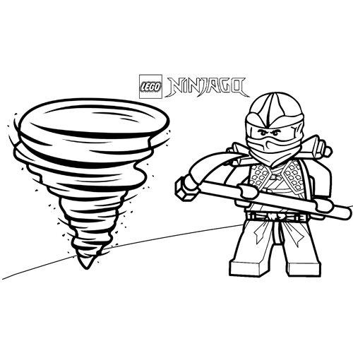 zane power wind ninjago coloring book