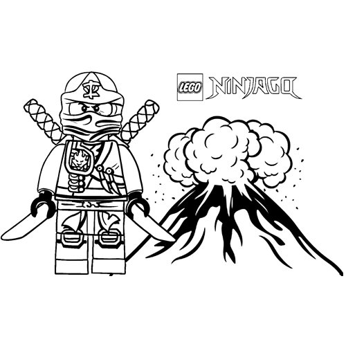 kai fire power ninjago coloring book