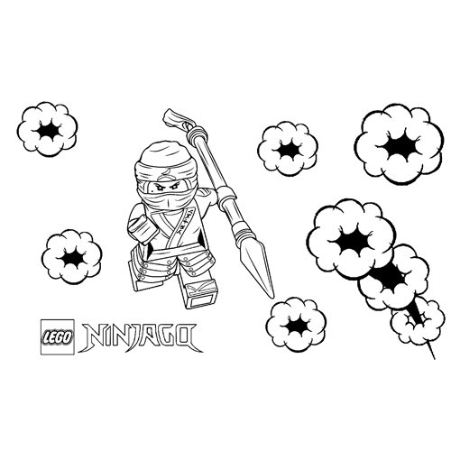 amazing ninja zane ninjago coloring book