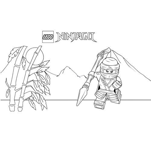 ninja nya lego ninjago coloring book