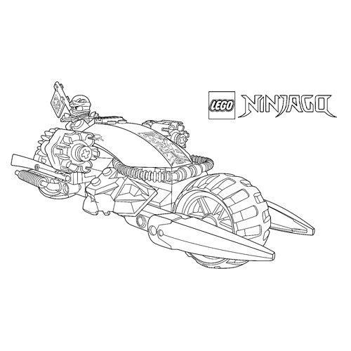 jay super bike lego ninjago coloring page