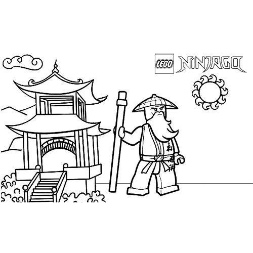 wise sensei wu lego ninjago coloring book