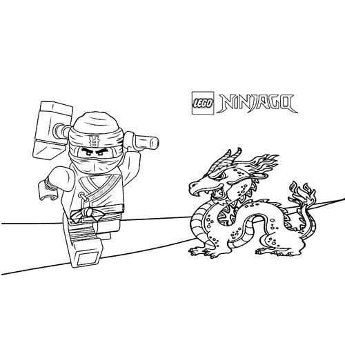 cole and the dragon ninjago coloring book