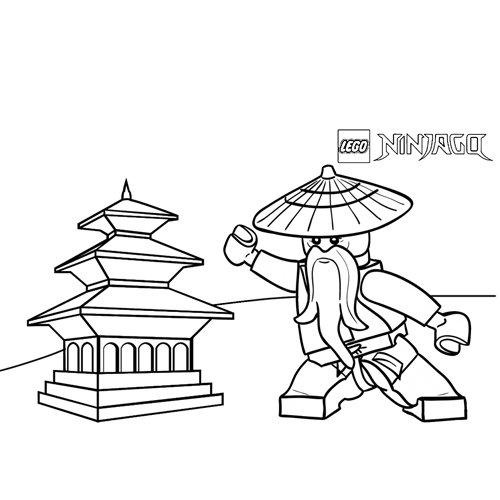 sensei wu ninjago coloring book