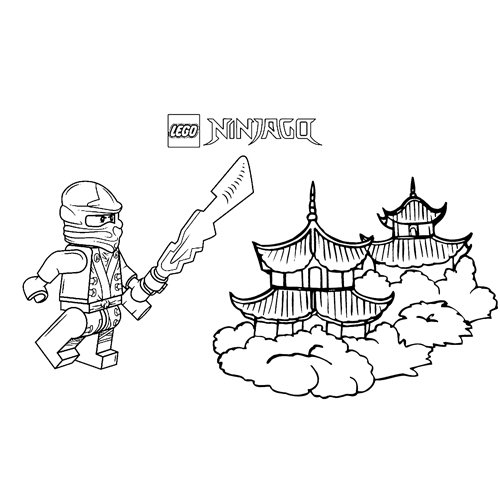 cole in the temple ninjago coloring book
