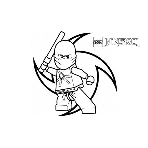 kai the red ninja ninjago coloring book