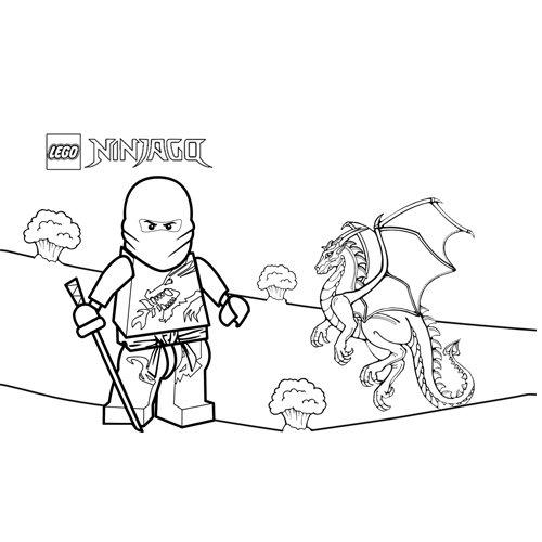 the dragon y kai ninjago coloring book