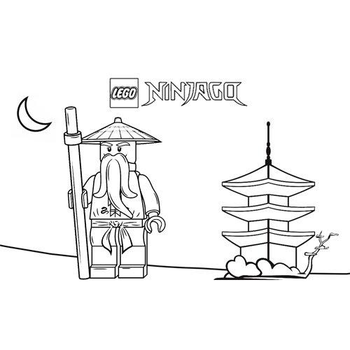 sensei wu in his home lego ninjago coloring book