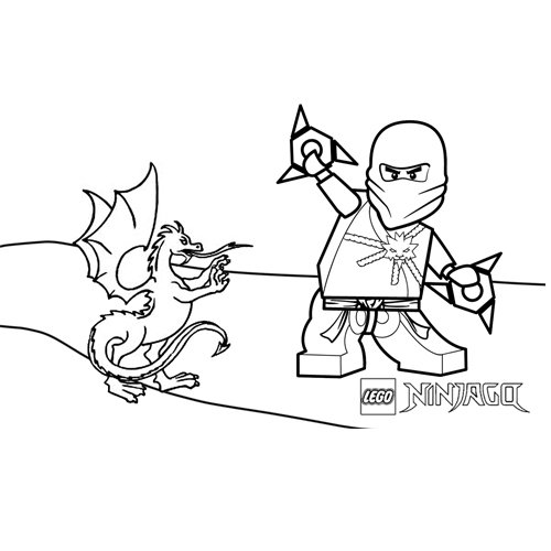 zane and the dragon ninjago coloring book