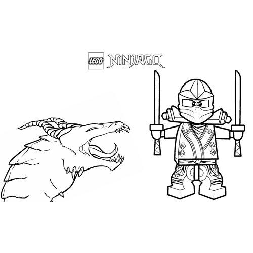 floyd with the dragon ninjago coloring book