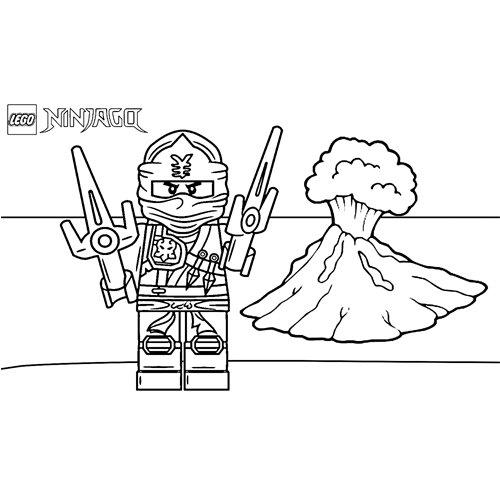 volcanic eruption jay ninjago coloring book