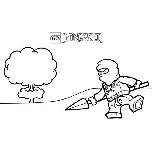 explosion zane lego ninjago coloring book