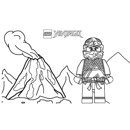 volcanic eruption cole ninjago coloring book