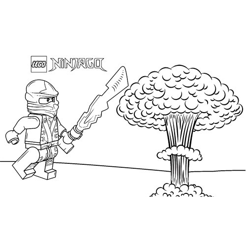 explosion floyd ninjago coloring book