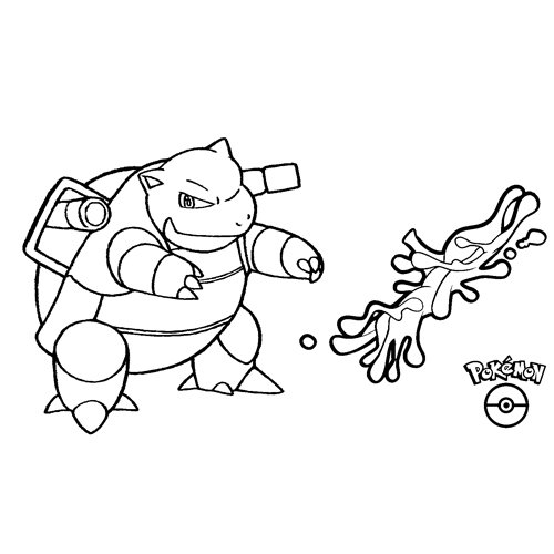 blastoise pokemon coloring book