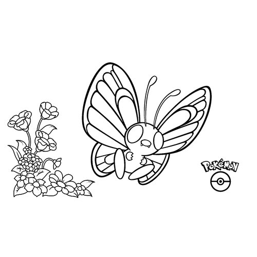 pokemon butterfree coloring book